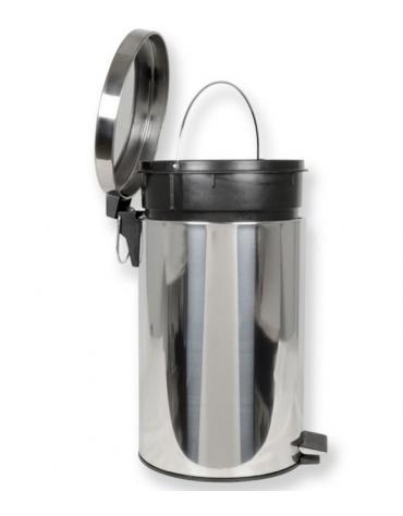 Contenitore rifiuti in acciaio inox  con pedale - lt 70 - cm Ø 45x72h
