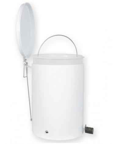 Contenitore rifiuti in acciaio smaltato, con pedale cn secchio interno in plastica - cm Ø 25x35h