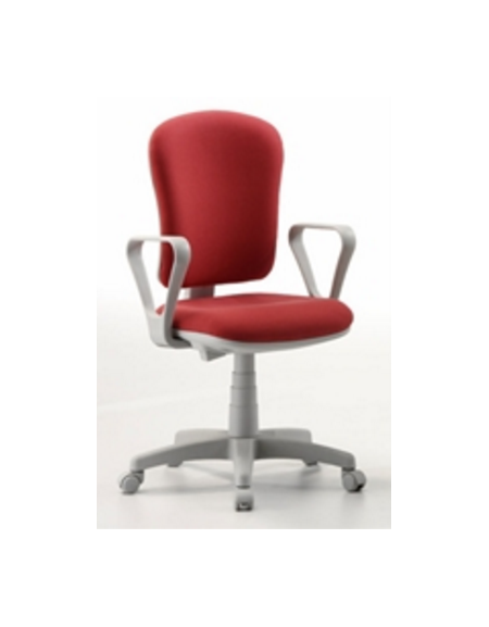 Sedia imbottita - con braccioli - con base rotante - tessuto - blu - cm  60X47X46/59h