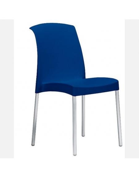 Sedia in polipropilene e alluminio Margherita Blu - Linea Margherita ...