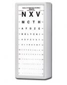 Ottotipo non luminoso - 5 metri - schermo in acrilico - cm 29x2,5x66h