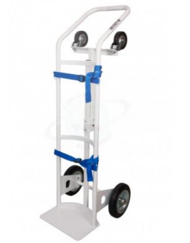 Portabombole monoposto per ambienti sanitari - 2 ruote gomma grigia Ø cm 20 2 ruote su snodo Ø cm 10 cm 45x125h