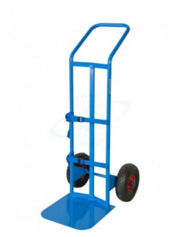 Portabombola ossigeno-terapia monoposto 2 ruote pneumatiche Ø cm 26 - cm 45x125h