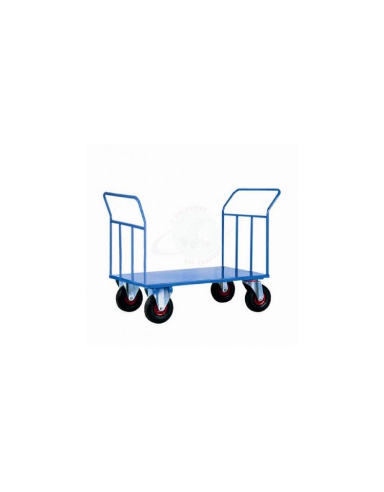 Carrello per il trasporto pesante pianale in lamiera inox - Portabiti con ruote ...