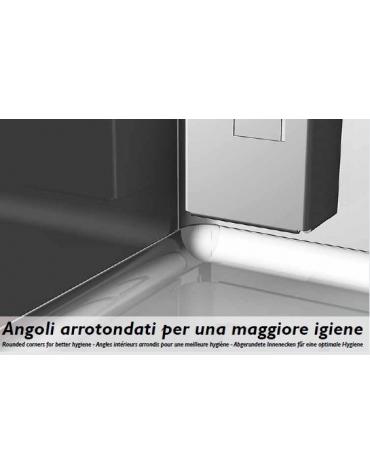 Armadio Refrigerato Inox a bassa temp. 4 sportelli cm 142x80x203h
