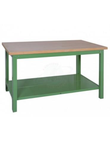 Banco da lavoro Professionale con piano in legno di faggio - cm  150x75x90h