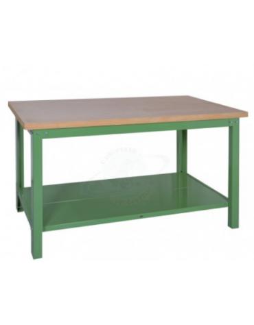 Banco da Lavoro Professionale con piano in legno di faggio - cm  200x75x90h