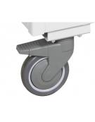Carrello porta faldoni/fascicoli a 2 piani - 4 ruote gomma alta silenziosità Ø cm 12,5 - cm 42x85x105h