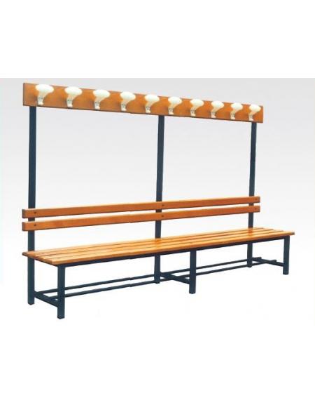 Panca con sedile spalliera attaccapanni arredamento for Arredamento asilo nido usato