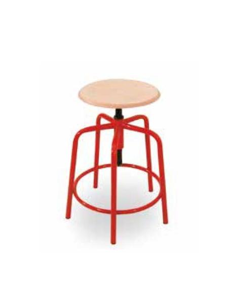 Sgabello fisso sedile faggio arredamento scolastico for Feltrini antirumore per sedie