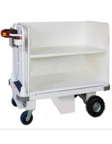 Carrello elettrico idoneo per trasporto faldoni/fascicoli per tribunali - cm 145x65x115h