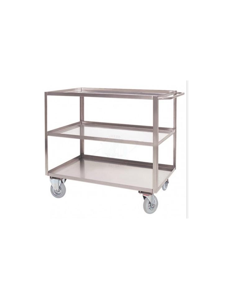 Carrello a 3 piani con bordo di contenimento in acciaio for 4 piani di box auto con abitazione