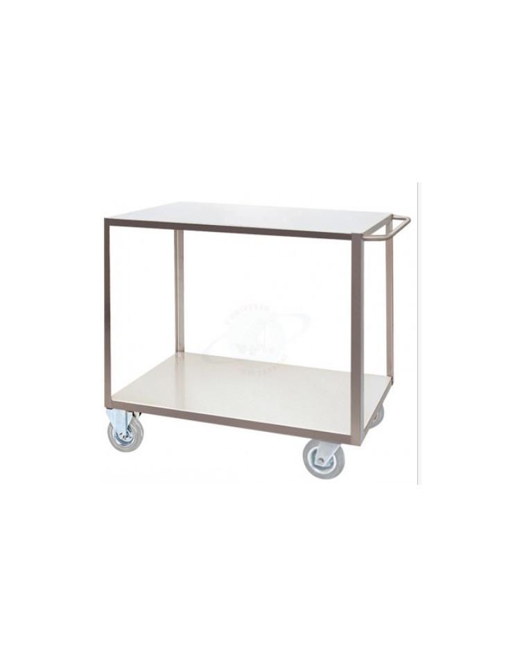 Carrello portatutto a 2 piani lamiera 15 10 alta portata for Peso lamiera acciaio inox aisi 304