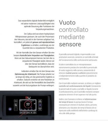 Confezionatrice a campana - Comandi digitali - Barra cm. 35