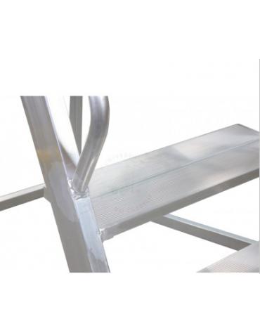 Scala a palchetto a 5 gradini con pedana di lavoro 4+1., altezza piano cm 125