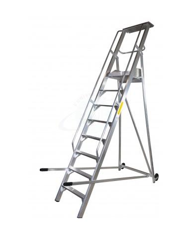 Scala a palchetto a 11 gradini con pedana di lavoro 10 +1 - altezza piani cm 275