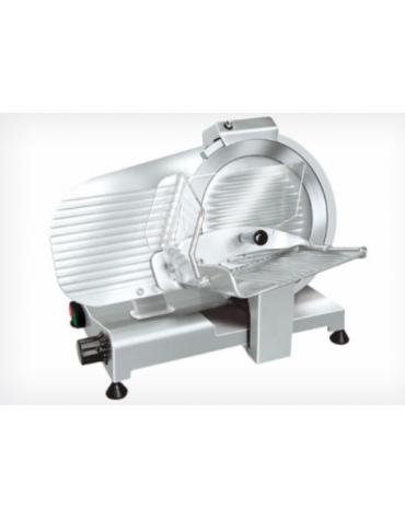Affettatrice a gravità in alluminio pressofuso, affilatoio fisso - mm 480x363x365h