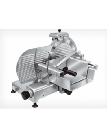 Affettatrice verticale in alluminio anodizzato, affilatoio fisso - mm 650x540x500h