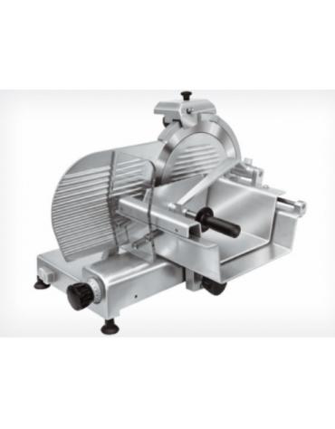 Affettatrice verticale in alluminio anodizzato, affilatoio fisso - mm 682x540x528h