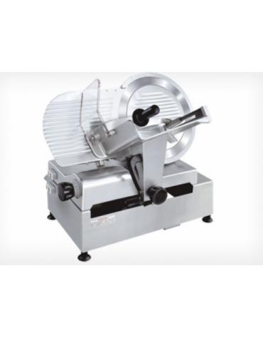 Affettatrice automatica in alluminio anodizzato, affilatoio fisso - mm 680x515x650h