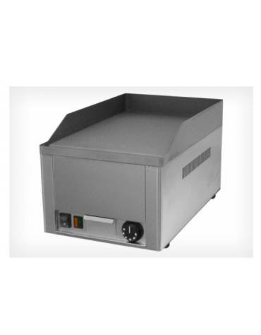 Griglia elettrica in acciaio inox con piano di cottura liscio in ghisa sabbiata mm 325x480