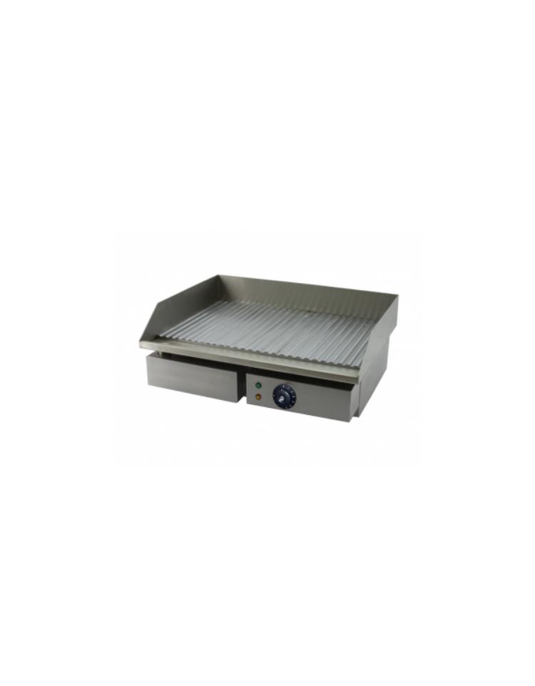 Fry top elettrico da banco in acciaio inox piastra liscia doppia potenza 6000 w cm - Piastra in acciaio inox per cucinare ...