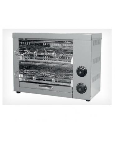Tostapane in acciaio inox - con funzione timer - 6 resistenze al quarzo 6 pinze incluse