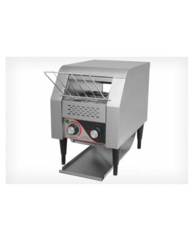 Tostiera a nastro in acciaio inox - produzione oraria: 150/180 fette con cassetto raccogli briciole