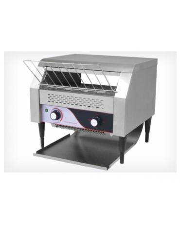Tostiera a nastro in acciaio inox - produzione oraria: 450/500 fette con cassetto raccogli briciole