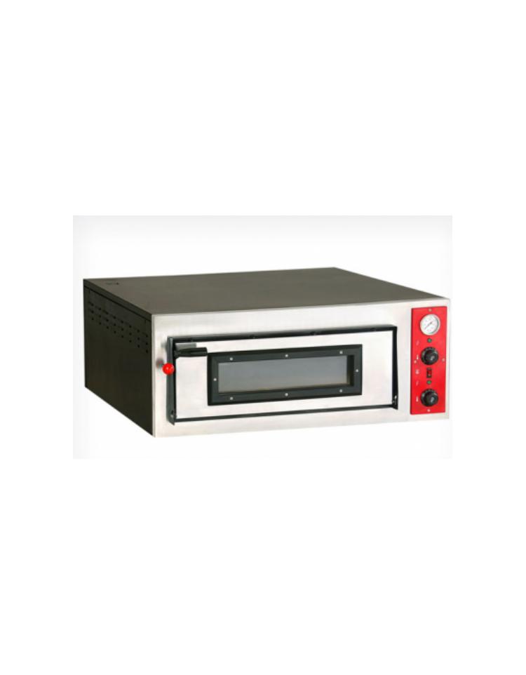 Forno pizza elettrico 1 camera di cottura da 6 pizze for Cottura pizza forno elettrico