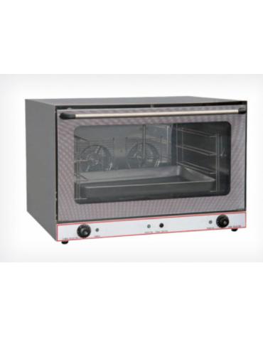Forno a convenzione in acciaio inox ventilato, 2 ventilatori - 2 resistenze, Dim. interne mm 700x465x360h