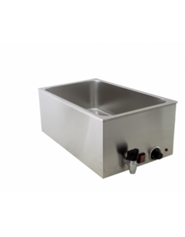Bagnomaria elettrico da banco con rubinetto - Dim. interne mm 325x535x170h