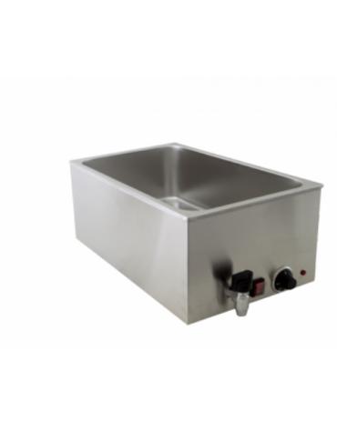 Bagnomaria elettrico da banco con rubinetto - Dim. interne mm 325x515x190h