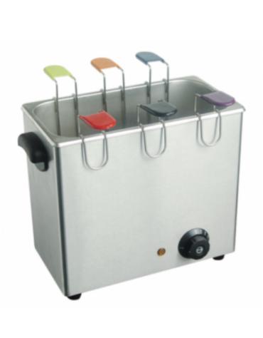 Cuociuova elettrico professionale in acciaio inox, da 6 uova - mm 370x230x300h