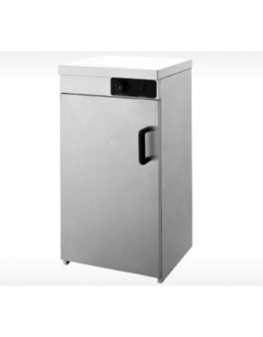 Mobiletto scaldapiatti in acciaio inox - capacità 55/60 piatti - Dim. interne mm 430x425x755h