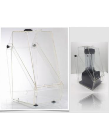 Insonorizzatore per frullatore in policarbonato trasparente - mm 250x360x540h