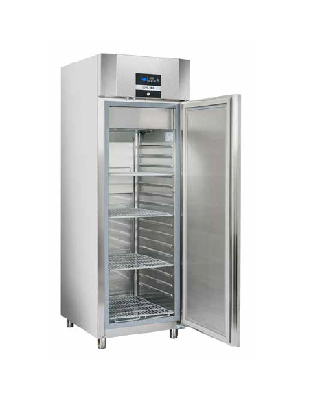 Armadio frigorifero in acciaio inox - refrigerazione ventilata -  temperatura -18°-22 C - cm 70,5x90x208.5.h