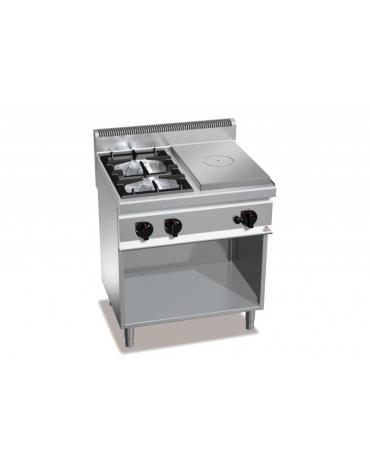 Cucina a gas 2 Fuochi con tuttapiastra a gas-VANO NEUTRO