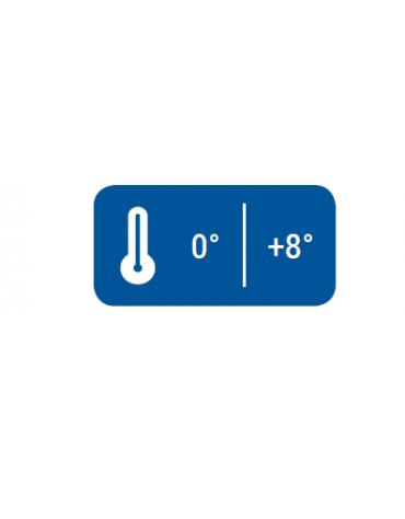 Armadio frigorifero inox con interno in abs - Refrigerazione roll bond con ventola di assistenza - mm 598x623x838h