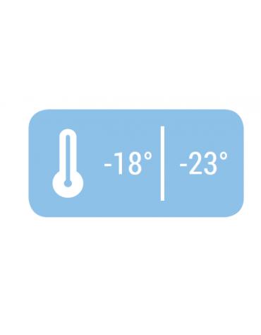 Armadio refrigerato negativo bianco con interno in ABS - 7 ripiani evaporatore fissi - mm 600x625x1875h