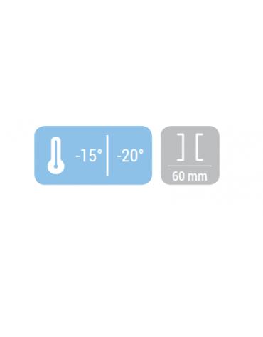 Congelatore porta a vetro 48Lt. - porta a vetro, autochiudente - refrigerazione statica - mm 570x535x530h