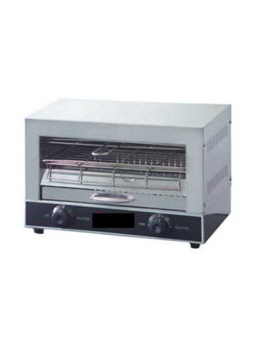 Tostiera professionale in acciaio inox - 3 pinze per toast incluse - mm 440x290x245h