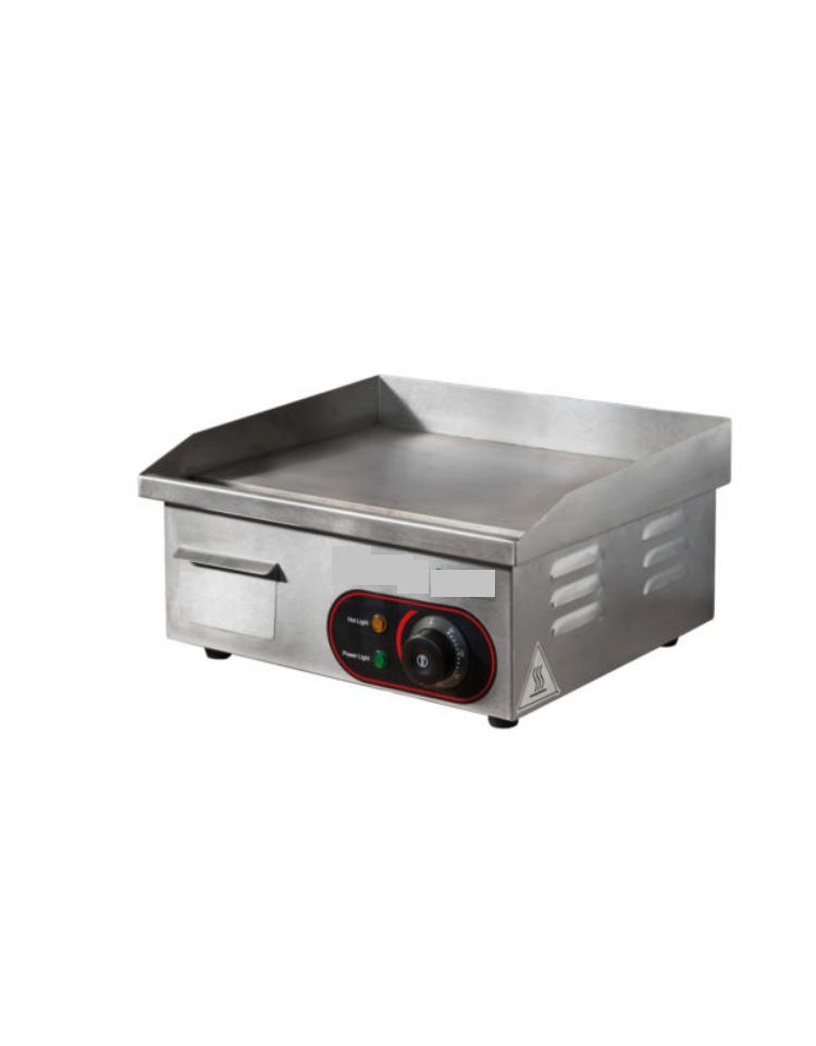 Piastra elettrica 2000w in acciaio inox da appoggio con vassoio raccogligrasso mm 400x350x210h - Piastra in acciaio inox per cucinare ...