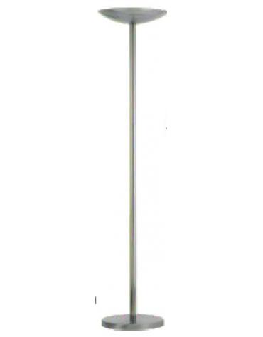 Lampada da terra con struttura in metallo. Lampadina inclusa. Colore nero o alluminio.