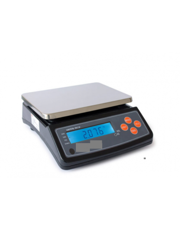 Bilancia elettronica  - portata: 20 Kg - dimensioni piattaforma: 25,5x19 cm