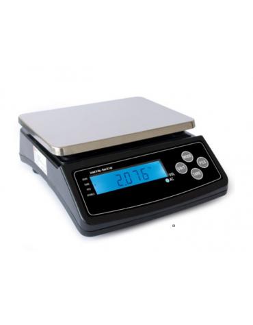 Bilancia elettronica - portata: 3 Kg  - dimensioni piattaforma: 25,5 x 19 cm