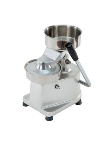 Hamburgatrice diam. mm150 in alluminio - parti a contatto con gli alimenti in acciaio inox 304 - mm 310x230x275h