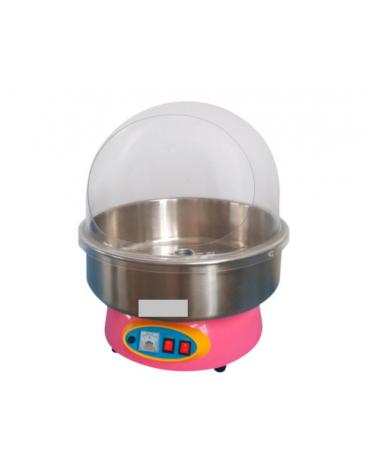 Macchina per zucchero filato da banco - vasca inox - cupola in policarbonato
