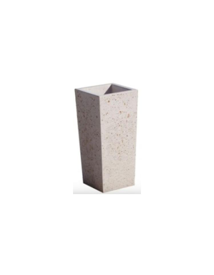 Posacenere in calcestruzzo cemento colore bianco travertino per esterno gettacarte arredo - Colore esterno casa bianco ...