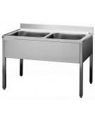 Lavello 2 vasche Dimensioni cm.140x70x85h